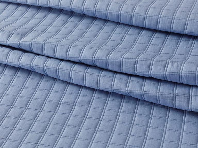Merlin Jakarlı Tek Kişilik Yatak Örtüsü Takımı 180x250 Cm Parlament Mavisi