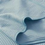 Striped Dokuma Çift Kişilik YATAK ÖRTÜSÜ 200x230 cm Koyu Mavi
