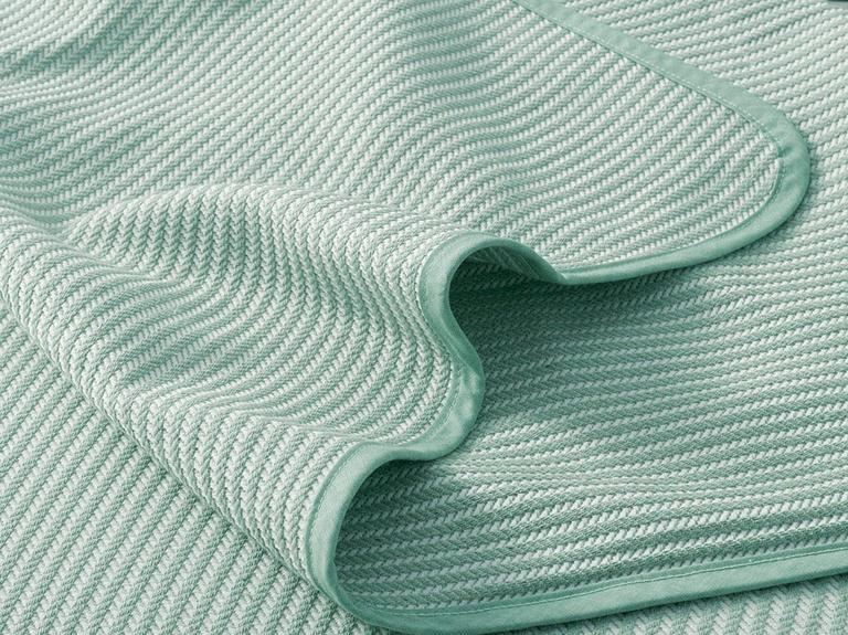 Striped Dokuma Çift Kişilik YATAK ÖRTÜSÜ 200x230 cm Yeşil