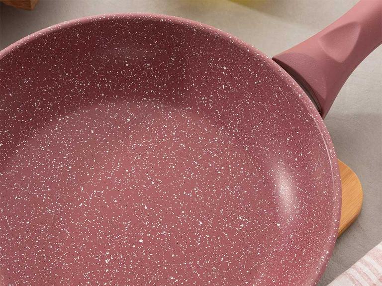 Pure Granit Tekli Tava 22 Cm Bordo