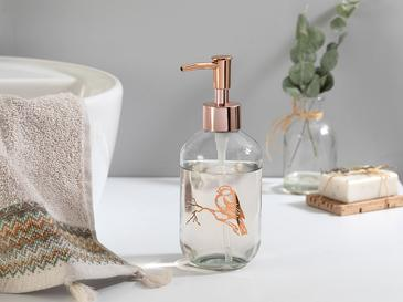 Birdy Cam Banyo Sıvı Sabunluk 7,2x18,5 Cm Rose Gold