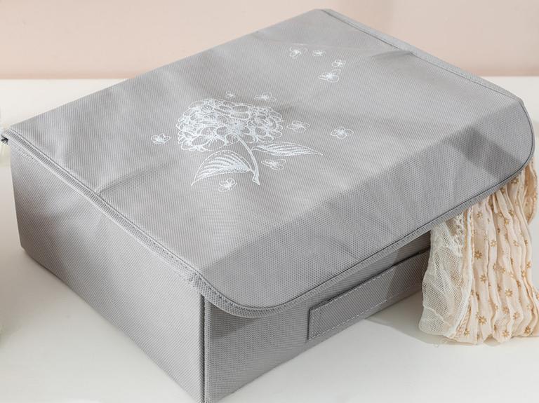 Hortensia Polipropilen Saklama Kutusu 30x23x11 Cm Açık Gri