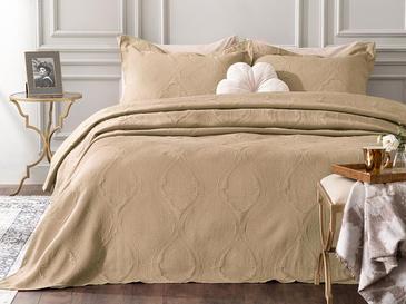 Peggy Jakarlı Çift Kişilik Yatak Örtüsü Takımı 250x260 Cm Cappucino
