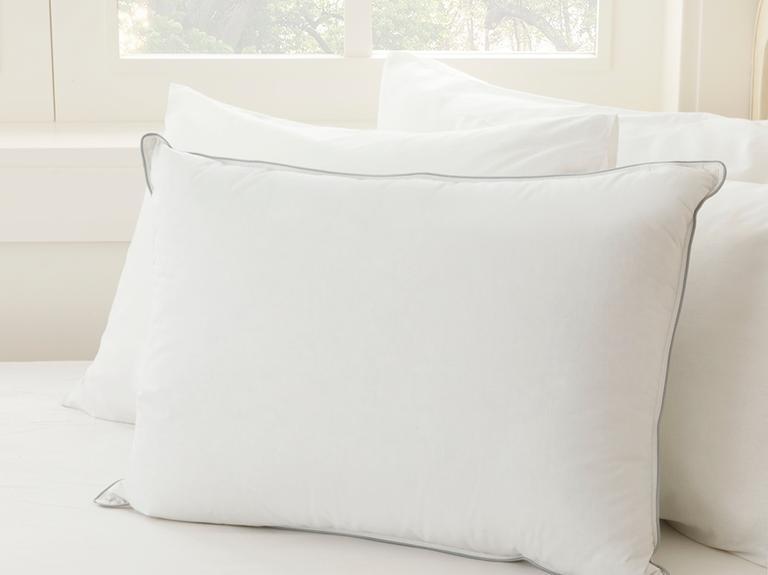 Super Soft Kaz Tüyü Yastık 50x70 Cm Beyaz