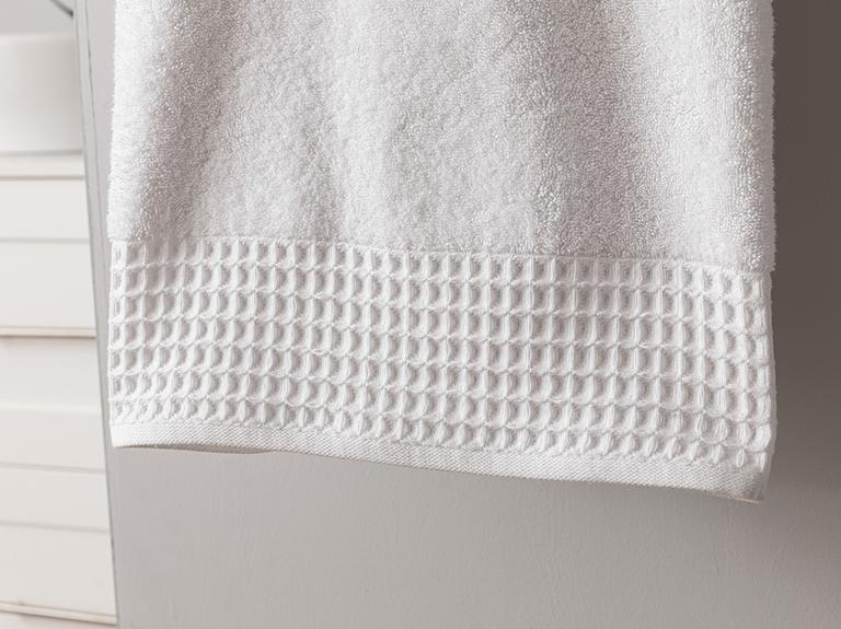Waffle Banyo Havlusu 100x150 Cm Beyaz