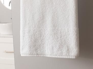 Pirinç Bordürlü Banyo Havlusu 90x150 Cm Beyaz