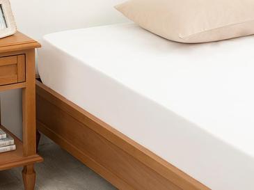 Düz Pamuklu Tek Kişilik Çarşaf 160X240 Cm Beyaz