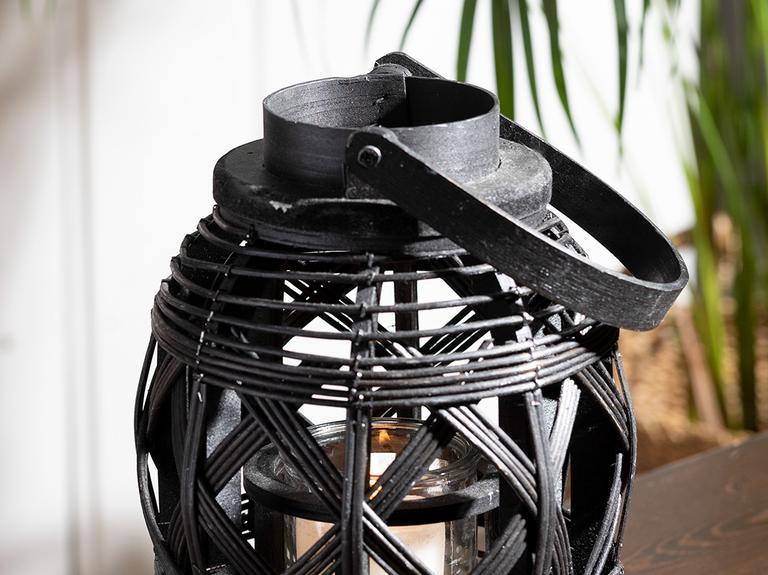 Fancy Bambu Fener 19x25 Cm Siyah