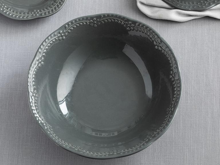 Viyana Porselen Kase 20 Cm Antrasit