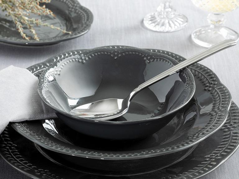 Viyana Porselen Çorba Kasesı 16 Cm Antrasit