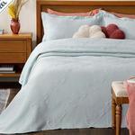 Alden Jakarlı Çift Kişilik Yatak Örtüsü Takımı 250x260 Cm Mavi