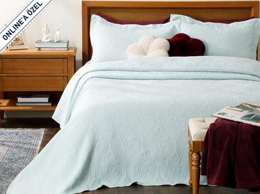 Grace Jakarlı Çift Kişilik Yatak Örtüsü Takımı 250x260 Cm Mavi