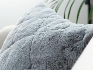 Rabbit Peluş Kırlent Kılıfı 45x45 Cm Koyu Mavi