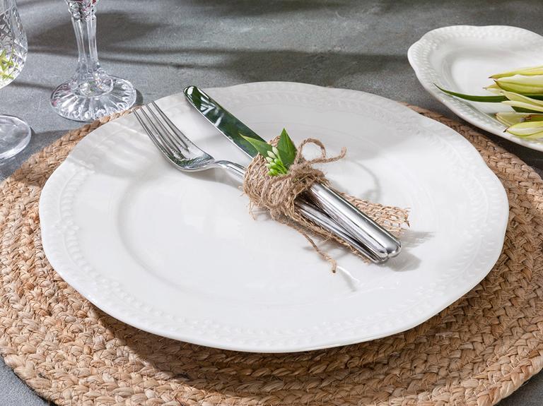 Viyana Porselen Pasta Tabağı 20 Cm Açık Krem
