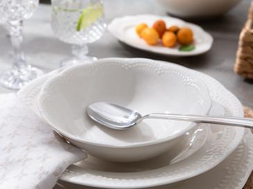 Viyana Porselen Çorba Kasesi 16 Cm Açık Krem