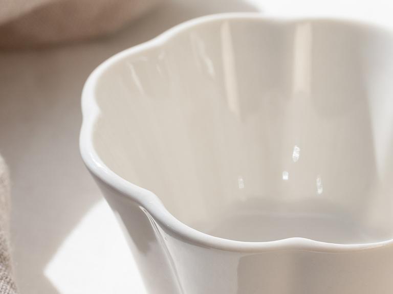 Viyana Porselen Çerezlik 10 Cm.. Açık Krem