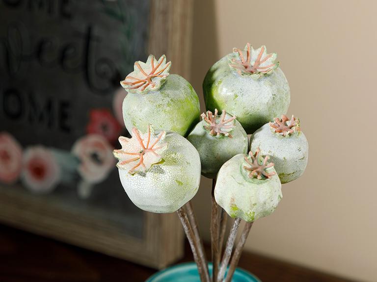 Fruits Köpük Tek Dal Yapay Çiçek 25 Cm Yeşil