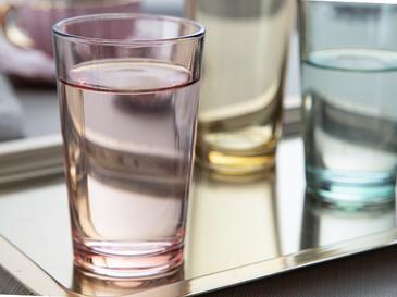 Rosalinda Cam 6'lı Kahve Yanı Su Bardağı 100 Ml Pembe - Sarı - Yeşil