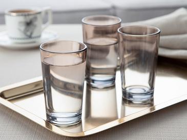 Denise Cam 6'lı Kahve Yanı Su Bardağı 100 Ml Gri