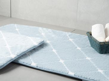 Tile  Banyo Paspası Seti 60x100 - 50x60 Cm Mavi