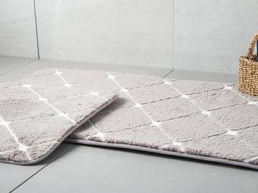 Tile Polyester Banyo Paspası Seti 50x80 - 45x50 Cm Koyu Mürdüm