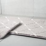 Tile Polyester Banyo Paspası Seti 60x100 - 50x60 Cm Koyu Mürdüm