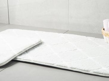 Tile  Banyo Paspası Seti 60x100 - 50x60 Cm Gri