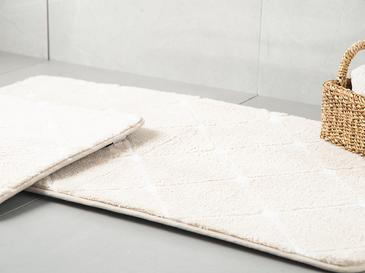 Tile Polyester Banyo Paspası Seti 60x100 - 50x60 Cm Taş Rengi
