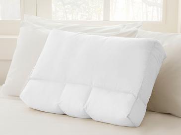 Düz Boncuk Silikon Çift Kullanımlı Yastık 60x40x12 Cm Beyaz