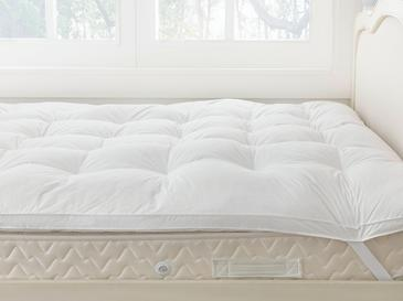 Luxury Kaz Tüyü Super King Yatak Pedi 200x200 Cm Beyaz