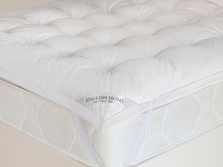 Luxury Kaz Tüyü King Size Yatak Pedi 180x200 Cm Beyaz