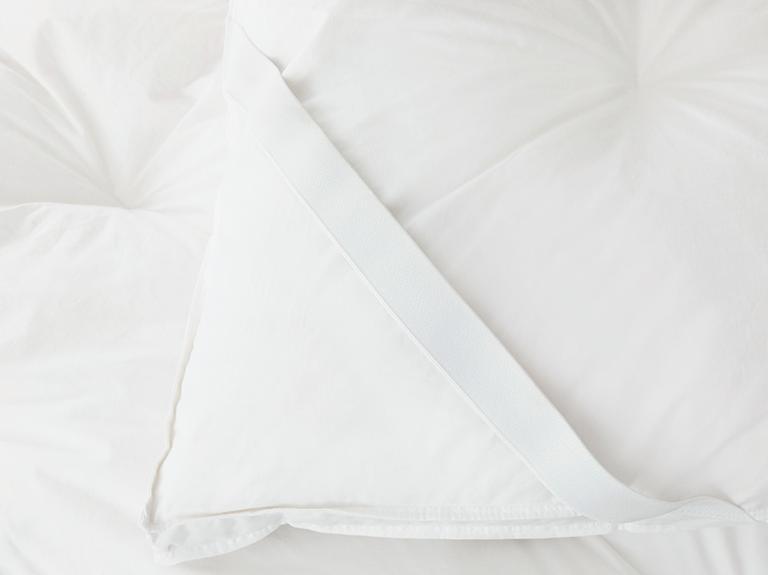 Luxury Kaz Tüyü Çift Kişilik Yatak Pedi 160x200 Cm Beyaz