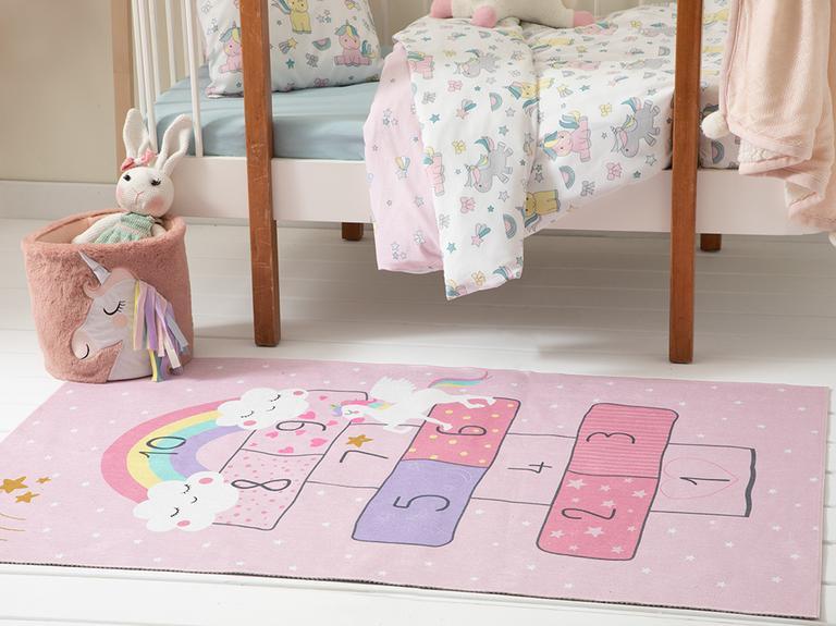 Unicorn Şönil Çocuk Halısı 90x140 Cm Pembe