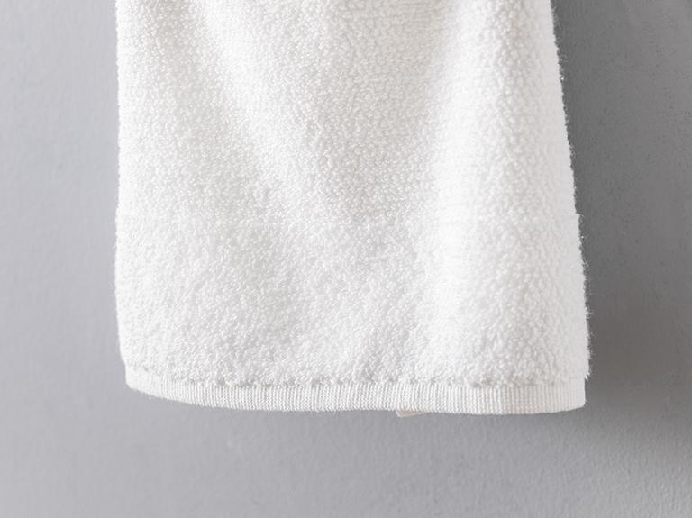 Pirinç Bordürlü Yüz Havlusu 40x60 Cm Beyaz