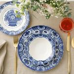Elegance Porselen 12 Parça Yemek Takımı 15 Cm - 19 Cm -25 Cm Mavi