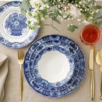 Elegance Porselen 24 Parça Yemek Takımı 15cm-21cm-19 Cm-25 Cm Mavi