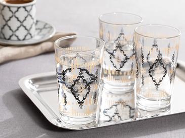Matris Cam 6'lı Kahve Yanı Su Bardağı 100 Ml Renkli