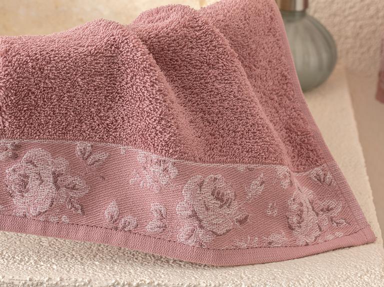Rose Belle Bordürlü El Havlusu 30x40 Cm Gül Kurusu