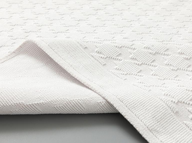 Pied De Poule Pamuklu Kilim 120x180 Cm Beyaz