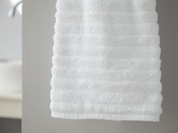 Dalgalı Yumuşak Dokulu Wave Yüz Havlusu 50x90 Cm Beyaz