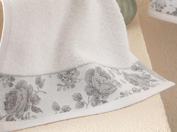 Rose Belle Bordürlü El Havlusu 30x40 Cm Beyaz