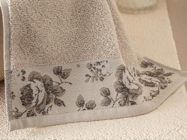 Rose Belle Bordürlü El Havlusu 30x40 Cm Açık Bej