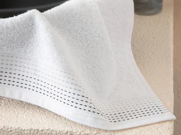 Stripes Çizgili El Havlusu 30x40 Cm Beyaz