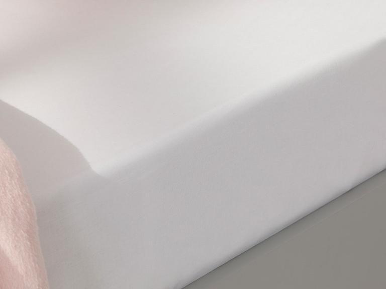 Soft Pamuklu Bebe Lastikli Çarşaf 70x140 Cm Beyaz
