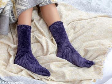 Velvet Kadife Kadın Çorap 36-38 Mor