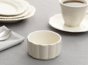 Viyana Porselen Sufle Kabı 8,5 Cm Açık Krem