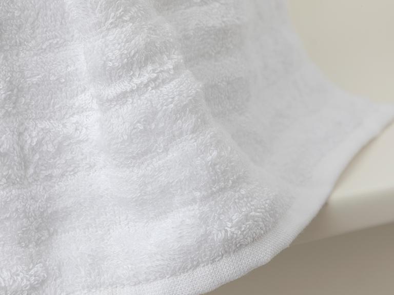 Dalgalı Yumuşak Dokulu Wave El Havlusu 30x30 Cm Beyaz
