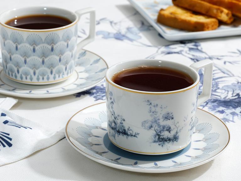 Tual New Bone 4 Parça Çay Fincanı Takımı 220 Ml Mavi