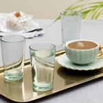 Palm Cam 6'lı Kahve Yanı Su Bardağı 100 Ml Yeşil
