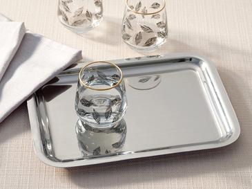 Shiny Metal Tepsi 22x16 Cm Gümüş